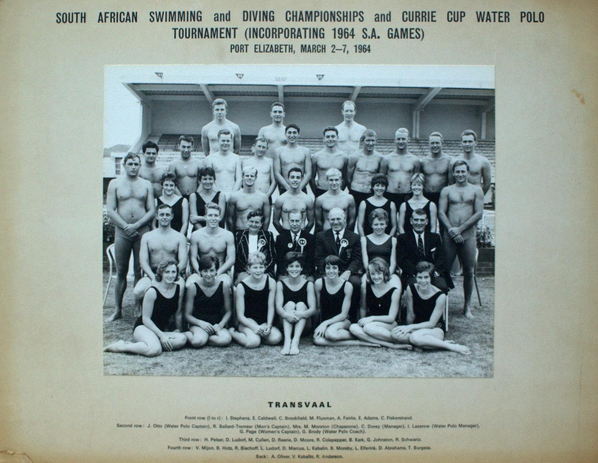 transvaal swimming 1964