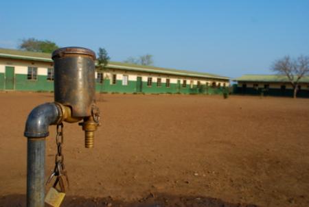 water spigot at okhayeni
