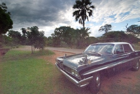 muscle car in victoria falls